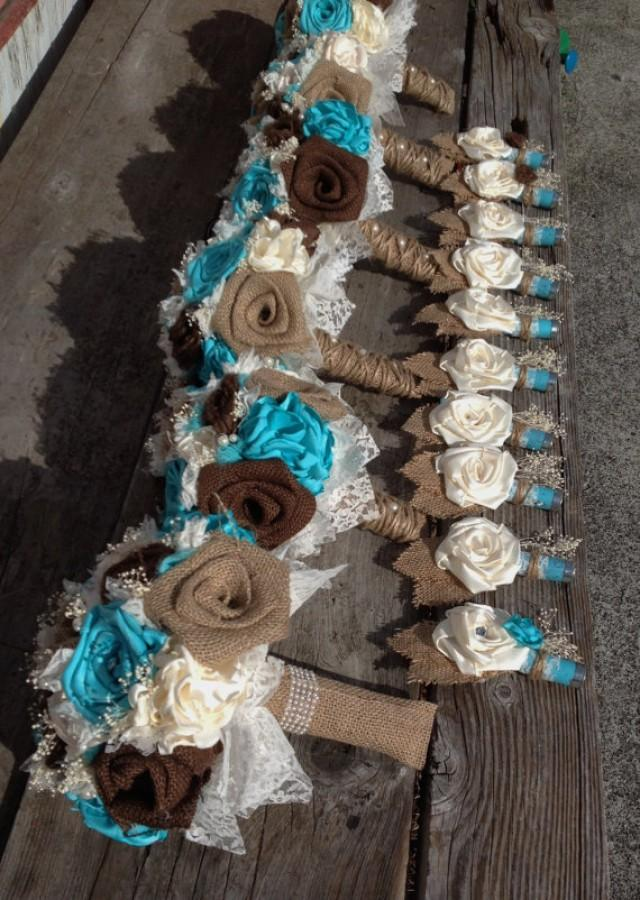 Handmade Bridal Bouquets With Natural And Chocolate Brown