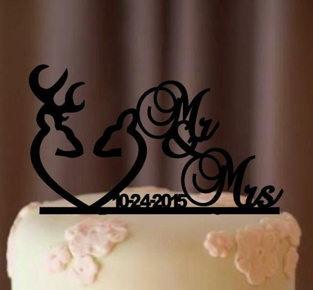 Deer Wedding Cake Topper   Country Wedding Cake Topper   Rustic Cake     Deer Wedding Cake Topper   Country Wedding Cake Topper   Rustic Cake Topper    Shabby Chic  Redneck   Cowboy   Outdoor   Western   Acrylic  2351633