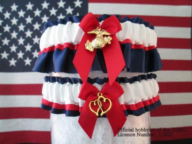 Military U.S. Marine EGA Garter Set