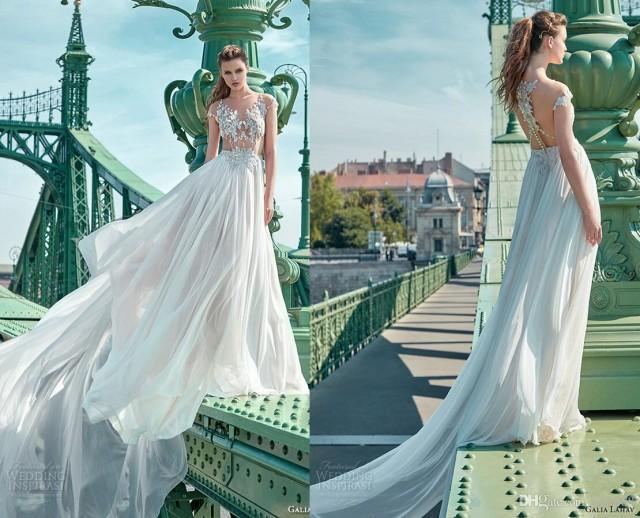 New Sexy See Through Galia Lahav Wedding Dresses Crystal