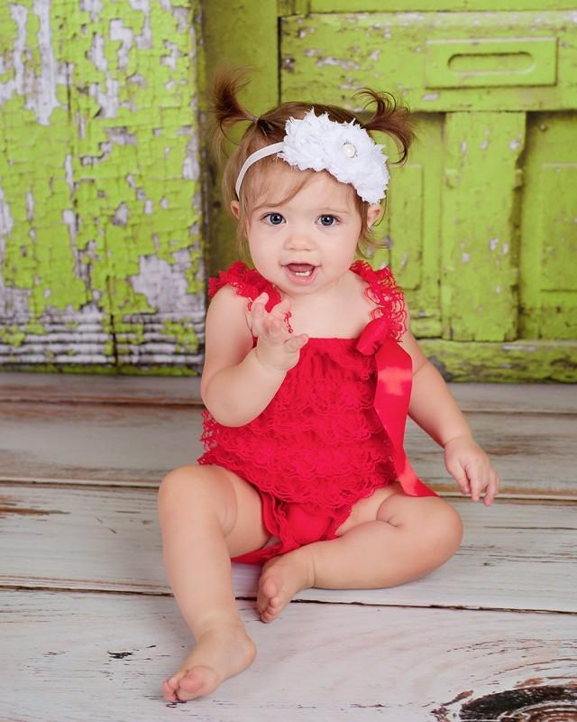 White Baby Headband White Flower Girl Headband White