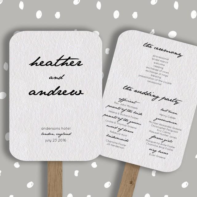 Wedding Program Fan Template Editable In Word Diy Printable Order Of Service 5x7 2435897