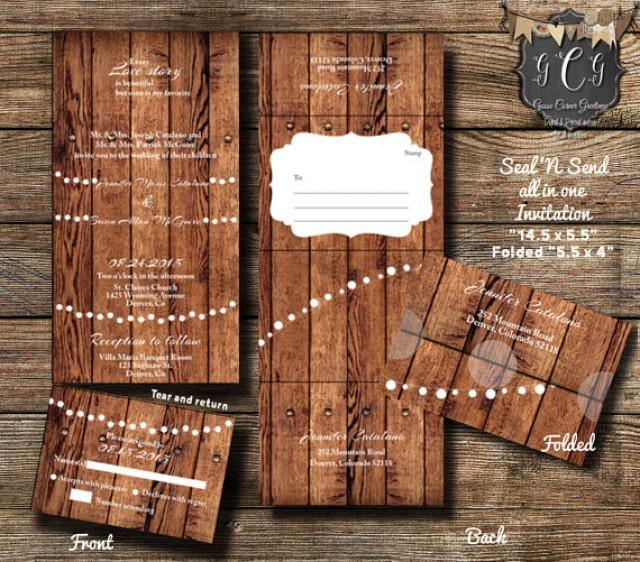25 Rustic Wood Seal And Send Invitations