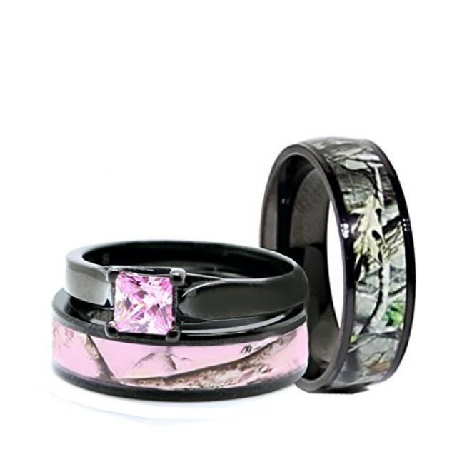 His And Hers Pink Women Amp Men Black Titanium Camo And