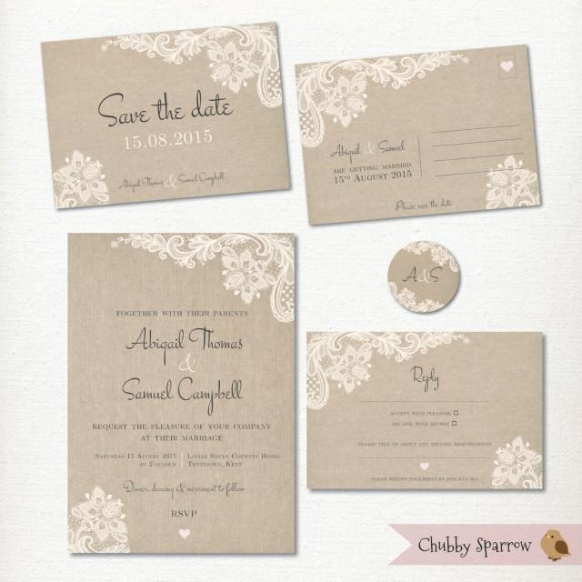 Wedding Invitation Save The Date