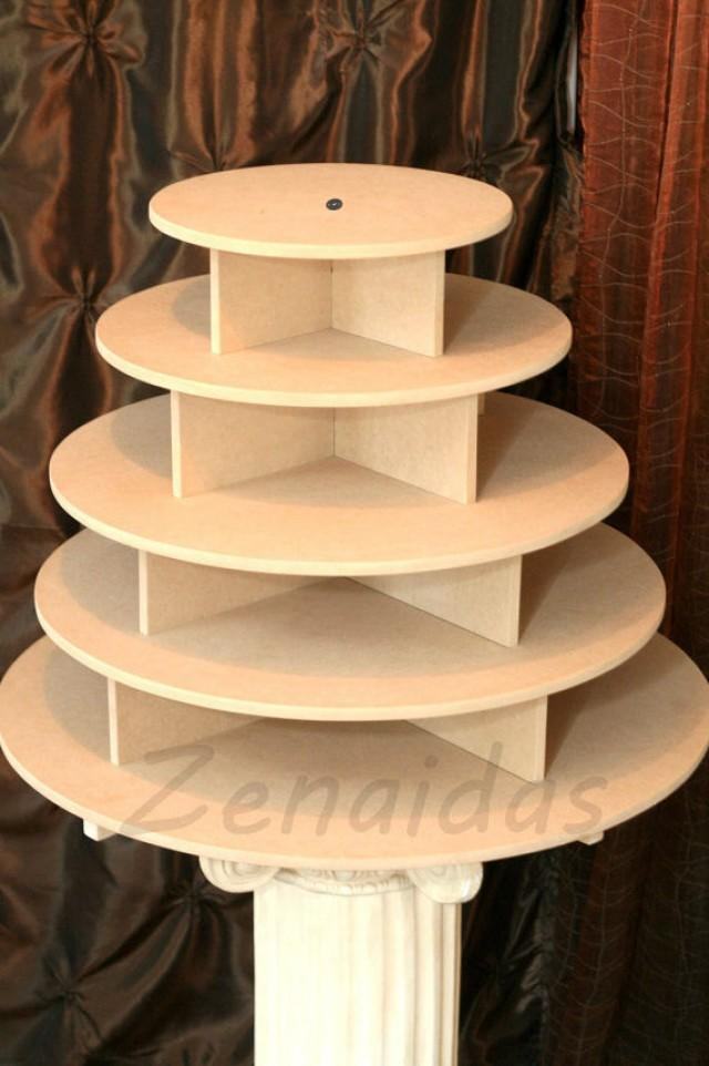 Cupcake Stand 5 Tier Round 180 Cupcakes Threaded Rod And