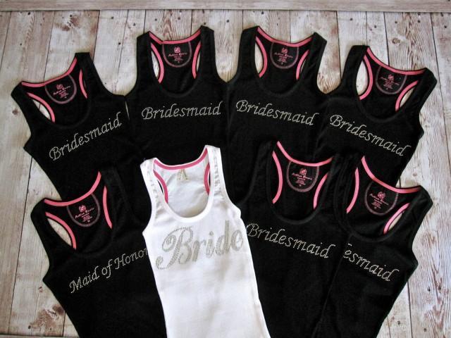 8 Bride Bridesmaid Tank Top Shirt. Matron Of Honor, Maid