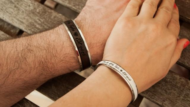 Personalized Couples Bracelets, Gift For Couple, Husband