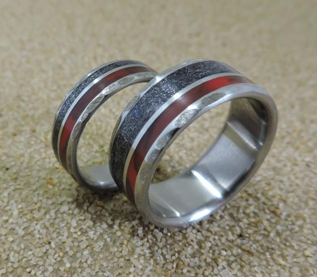 Titanium Rings Meteorite Rings Wedding Rings Wedding