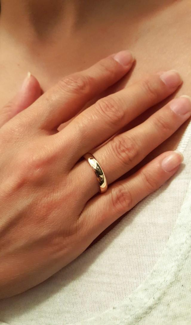 14k Solid Gold Wedding Engagement Ring 14k Gold His And