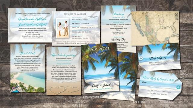 Passport Wedding Invitations Booklets