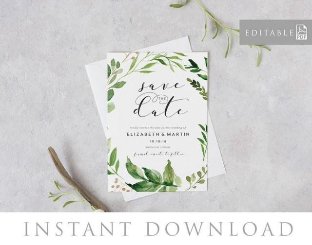 Save The Date Editable Pdf Template INSTANT DOWNLOAD