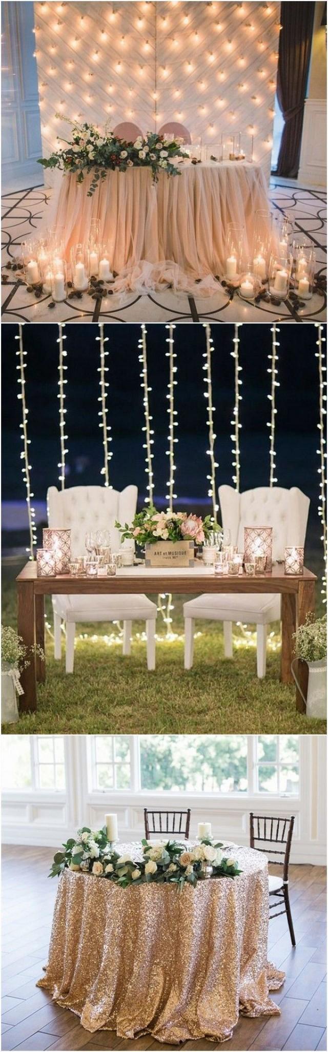 15 romantic wedding sweetheart table decoration ideas 2762968 weddbook