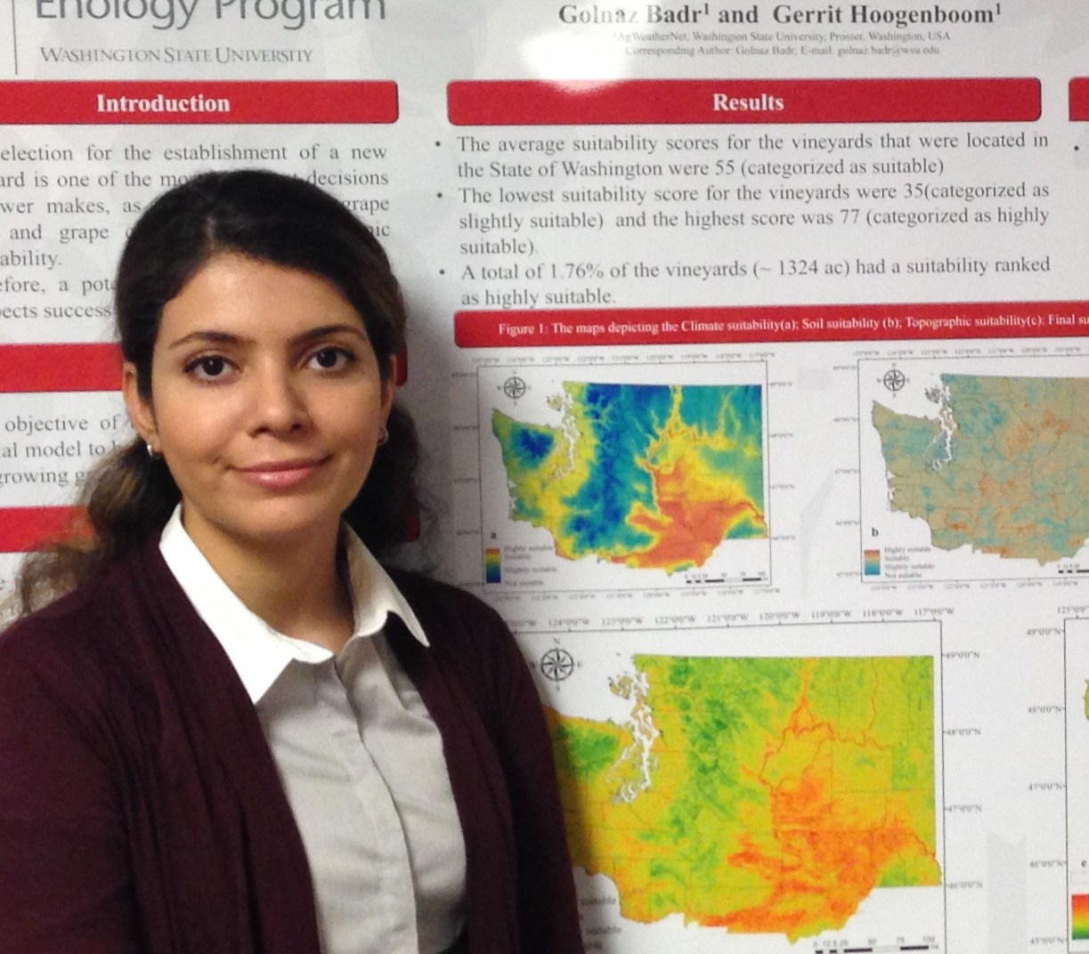 HD Decor Images » Award winning WSU research maps suitability of Washington vineyard     Golnaz Badr  WSU doctoral student of engineering  has combined Washington  soil  topography and