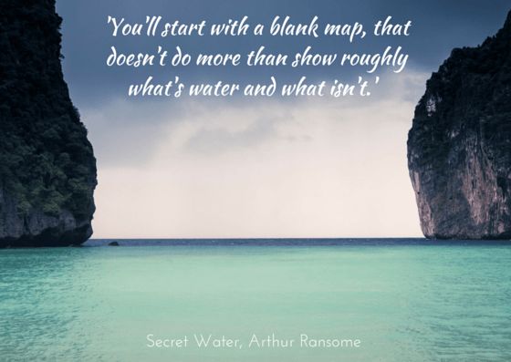 Arthur Ransome Secret Water - quotation on photo by Monika Majkowska, unsplash.com