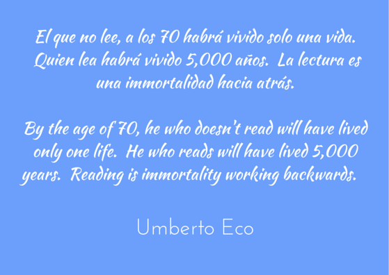 Umberto Eco quoted in El Pais