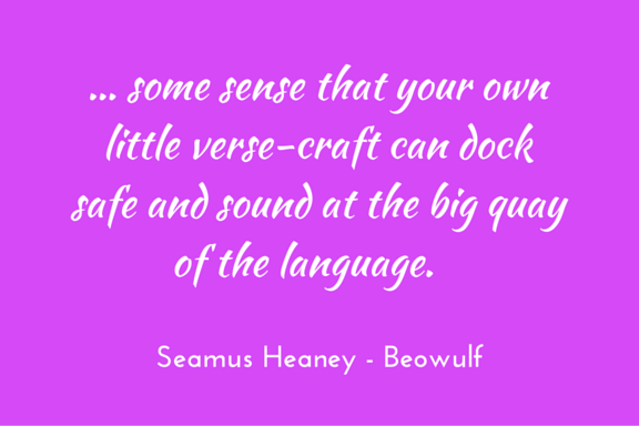 Heaney, introduction to Beowulf, poetry