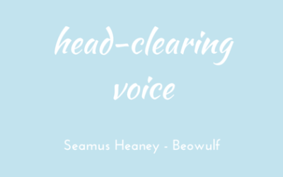 A voice to clear the head