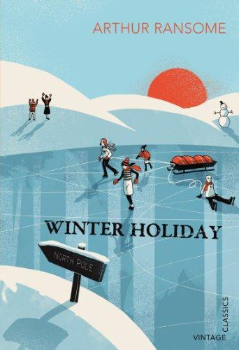 Arthur Ransome, Winter Holiday, Vintage Classics book cover illustration by Pietari Posti