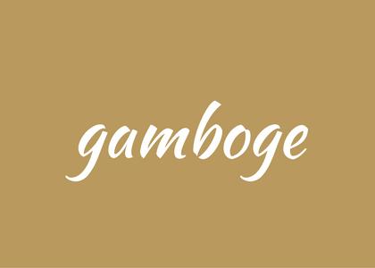 word - gamboge