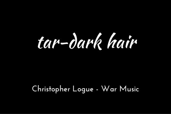 Christopher Logue - Homer - War Music - triologism - tar-dark hair