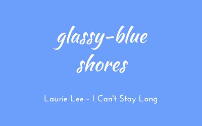 Glassy-blue shoreline