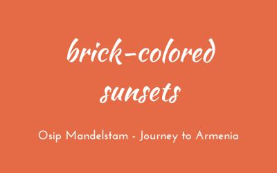 Brick-coloured sunsets