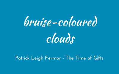 Bruise-coloured clouds