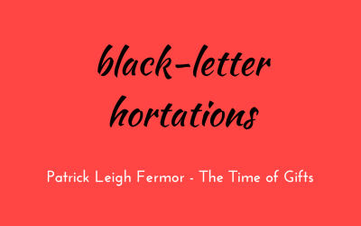 Black-letter hortations