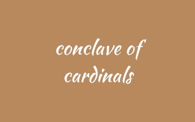 A conclave of cardinals