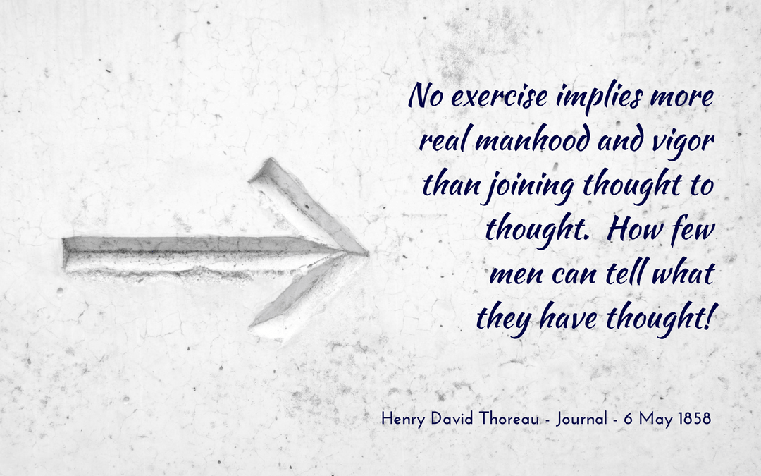 Thoreau - Journal - quotation about thought and vigor