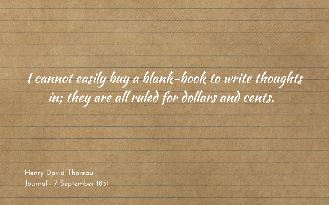 A blank-book for thoughts