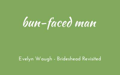 Bun-faced man