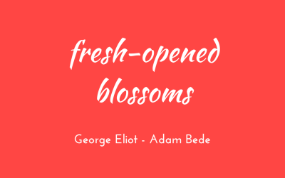 Fresh-opened blossoms and mounting larks