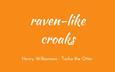 Raven-like croaks