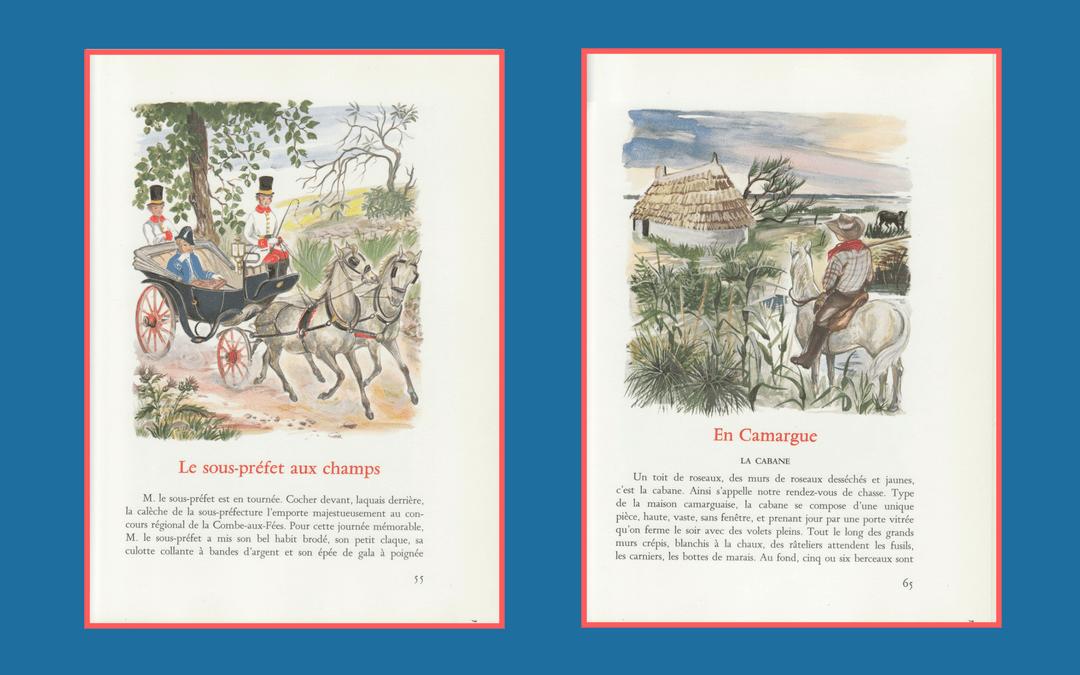 Book design and illustration - Daudet - Lettres de Mon Moulin