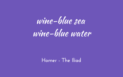 Of wine-blue water