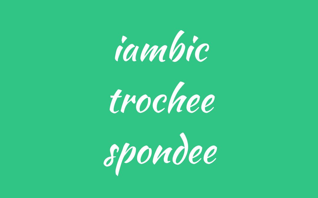 words - iambic trochee spondee