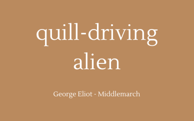 Quill-driving alien