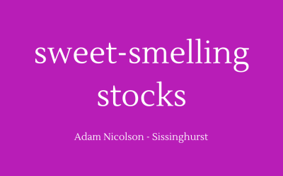 Sweet-smelling stocks