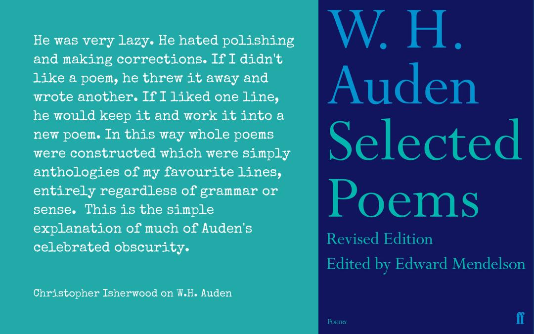 Quotation - Isherwood on Auden