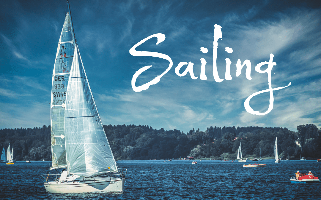 Sailing away on a summer day