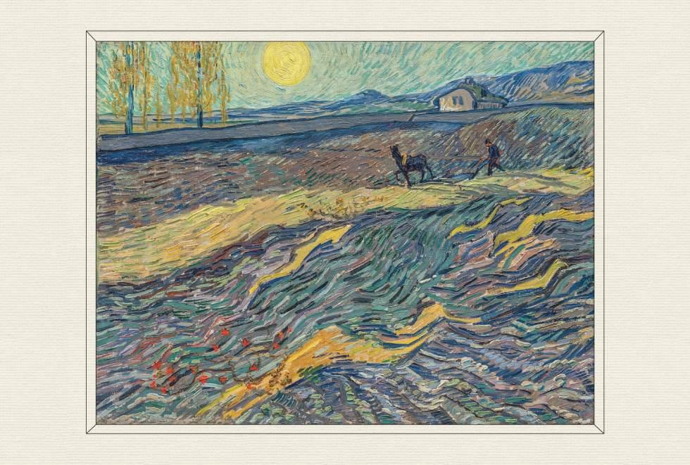 Laboureur dans un champ, 1889–90, by Vincent van Gogh