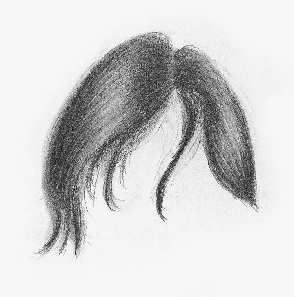 Demonstração de cabelos lisos, etapa 3 | Lee Hammond | Desenho de cabelo para iniciantes em grafite e lápis de cor | Rede de Artistas