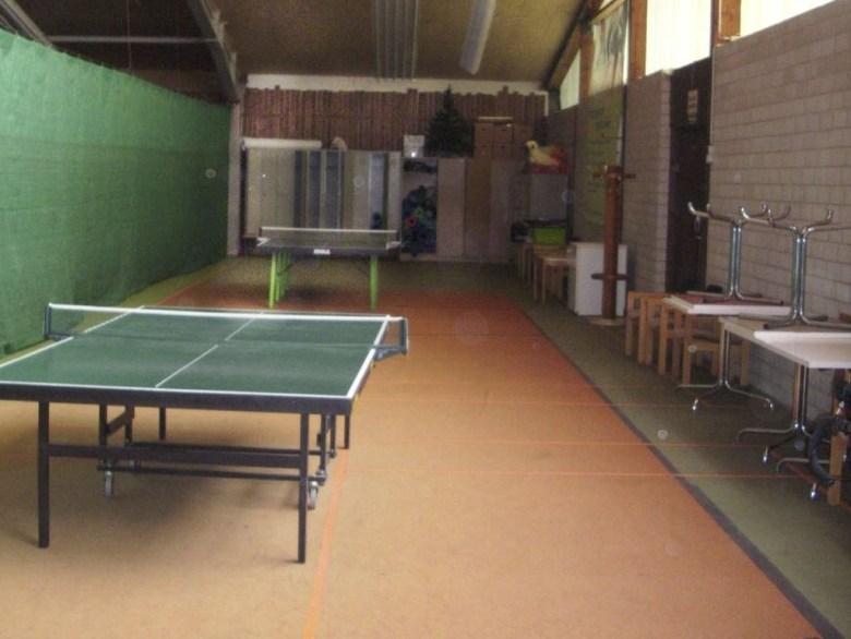 Unsere Tischtennisabteilung hat sich in einem abgetrennten Bereich der Mehrzweckhalle eingerichtet.