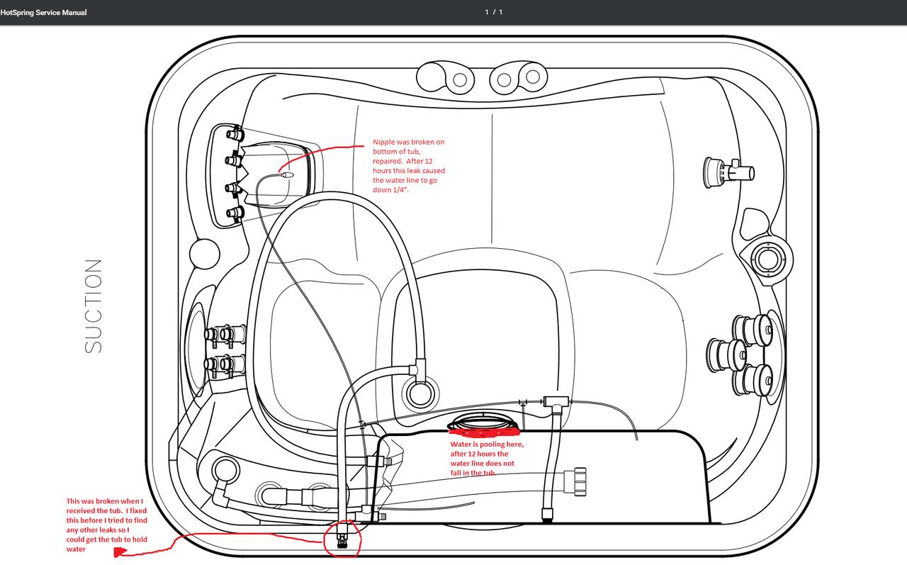 Hot Springs Jet Setter Leak Repair Advice Odd Issue