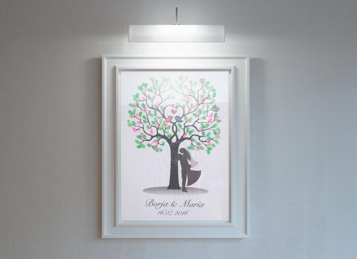 diseño cartel arbol boda