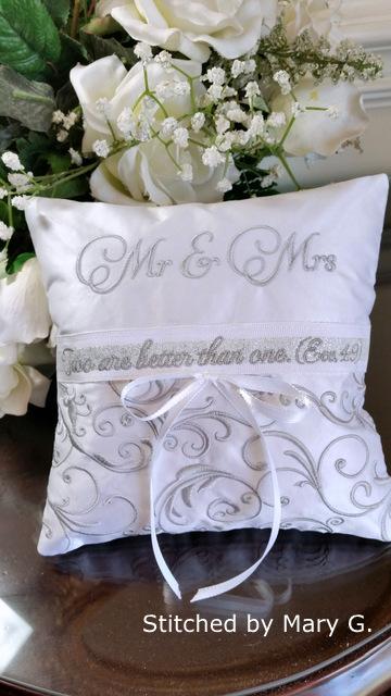 elegant ringbearer pillow oma s place