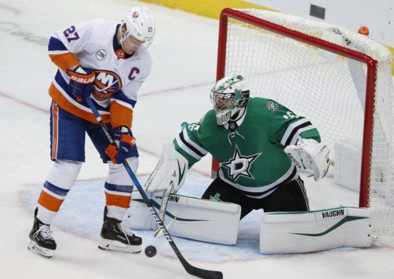 New York Islanders Anders Lee Dallas Stars Anton Khudobin
