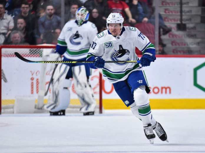 Tyler Toffoli Canucks of Vancouver